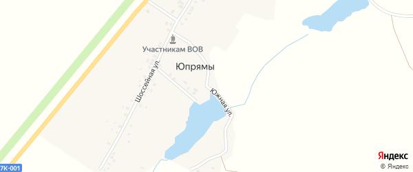 Южная улица на карте деревни Юпрямы с номерами домов