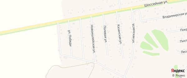 Новоишлейская улица на карте села Ишлеи с номерами домов