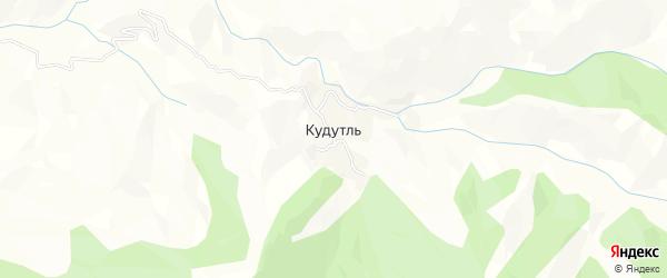 Карта села Кудутля в Дагестане с улицами и номерами домов