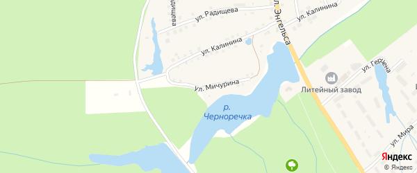 Улица Мичурина на карте поселка Ибреси с номерами домов