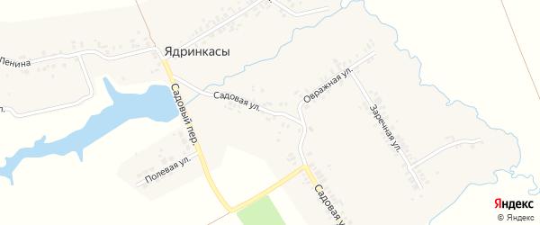 Садовая улица на карте деревни Ядринкасы с номерами домов