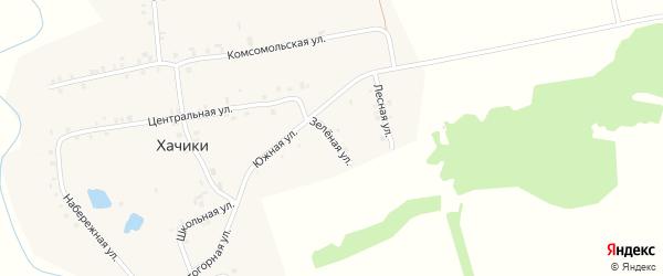 Южная улица на карте деревни Хачики с номерами домов