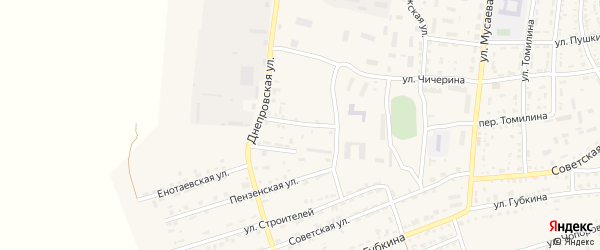 Монтажная улица на карте села Енотаевки с номерами домов