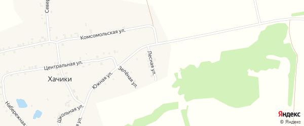 Лесная улица на карте деревни Хачики с номерами домов