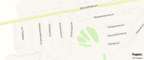 Успенская улица на карте села Ишлеи с номерами домов