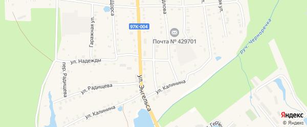 Улица Сергея Лазо на карте поселка Ибреси с номерами домов