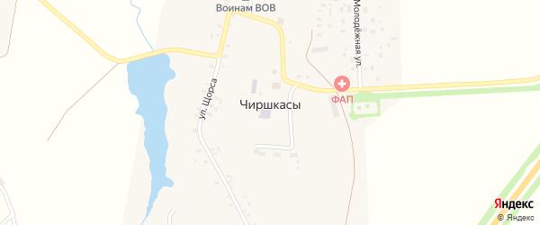 Солнечная улица на карте деревни Чиршкасы (Сирмапосинского с/п) с номерами домов