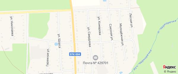 Улица Свердлова на карте поселка Ибреси с номерами домов