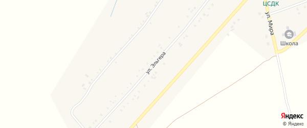 Улица Эльгера на карте деревни Большие Абакасы с номерами домов