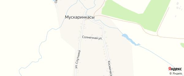 Солнечная улица на карте деревни Мускаринкасы с номерами домов
