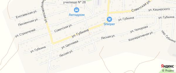 Улица Цепляева на карте села Енотаевки с номерами домов
