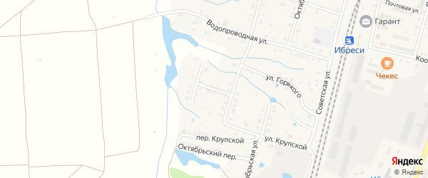 Переулок Лермонтова на карте поселка Ибреси с номерами домов