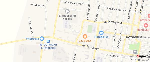 Заречная улица на карте села Енотаевки с номерами домов