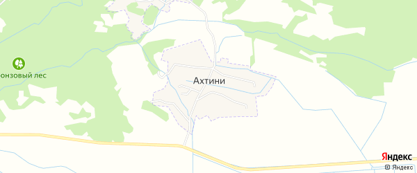 Карта села Ахтини в Дагестане с улицами и номерами домов