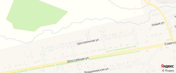 Лесной 2-й переулок на карте села Ишлеи с номерами домов