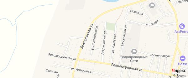 Улица Космонавтов на карте села Енотаевки с номерами домов