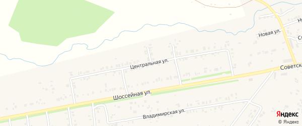 Центральная улица на карте села Ишлеи с номерами домов