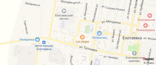 Донская улица на карте села Енотаевки с номерами домов