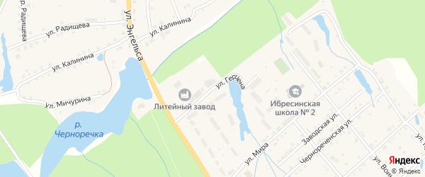 Улица Герцена на карте поселка Ибреси с номерами домов