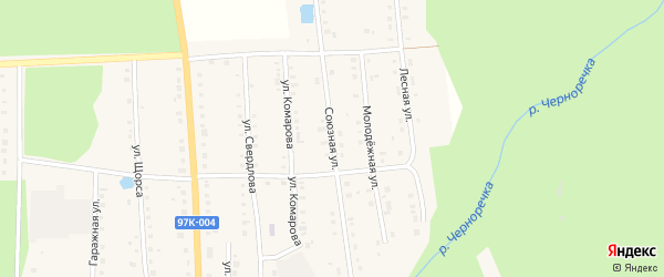 Союзная улица на карте поселка Ибреси с номерами домов