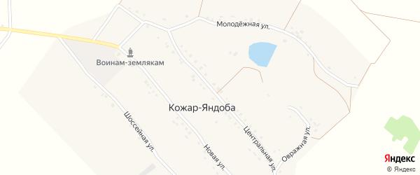 Центральная улица на карте деревни Кожар-Яндоба с номерами домов