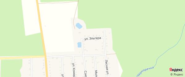 Улица Эльгера на карте поселка Ибреси с номерами домов