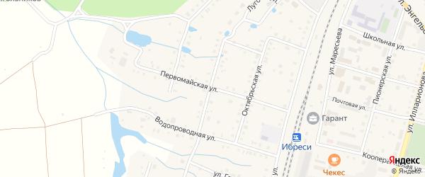 Первомайская улица на карте поселка Ибреси с номерами домов