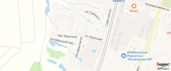 Улица Крупской на карте поселка Ибреси с номерами домов