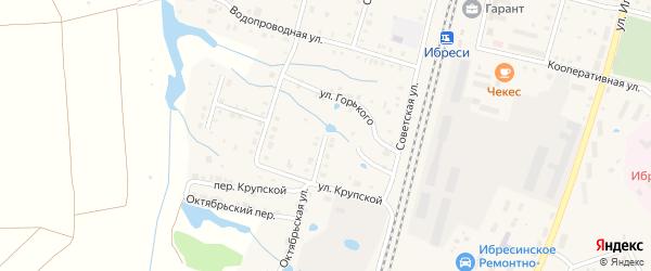 Октябрьская улица на карте поселка Ибреси с номерами домов