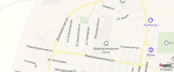 Улица Комарова на карте села Енотаевки с номерами домов