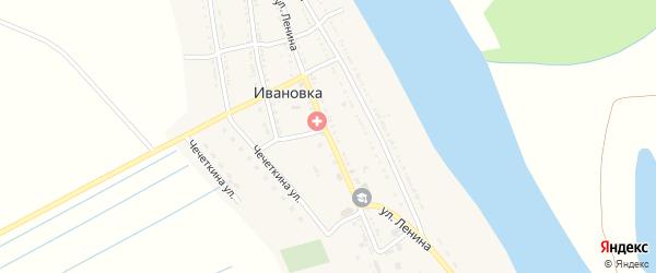 Улица Ленина на карте села Ивановки с номерами домов