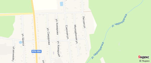 Молодежная улица на карте поселка Ибреси с номерами домов