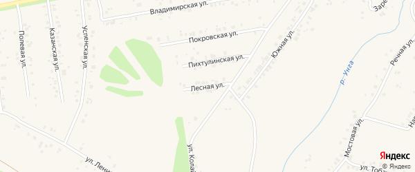 Лесная улица на карте деревни Мускаринкасы с номерами домов