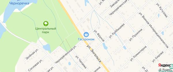 Чернореченская улица на карте поселка Ибреси с номерами домов