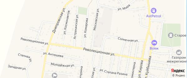 Московская улица на карте села Енотаевки с номерами домов