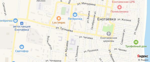 Улица Татищева на карте села Енотаевки с номерами домов