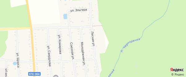 Лесная улица на карте поселка Ибреси с номерами домов