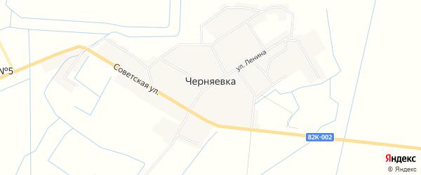 Карта села Черняевки в Дагестане с улицами и номерами домов