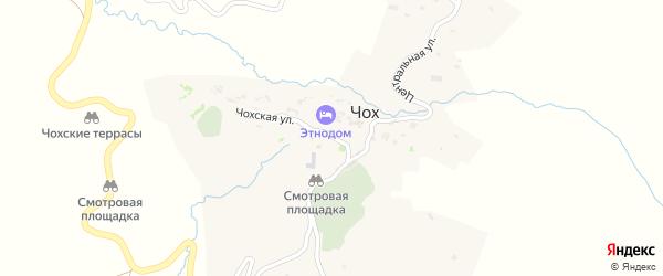 Чох-Коммунская улица на карте села Чоха с номерами домов