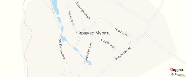Улица Кольцовка на карте деревни Чиршкас-Мураты с номерами домов