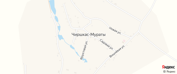 Садовая улица на карте деревни Чиршкас-Мураты с номерами домов