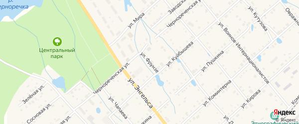 Улица Фрунзе на карте поселка Ибреси с номерами домов