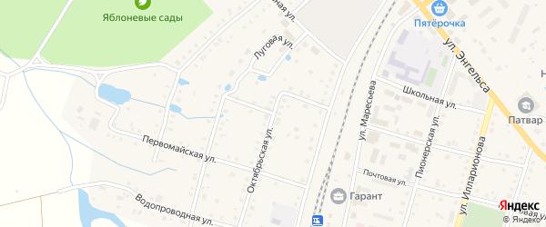 Переулок Шпалзавода на карте поселка Ибреси с номерами домов