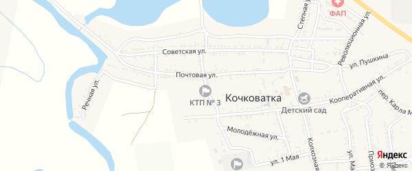 Советский переулок на карте села Кочковатки с номерами домов