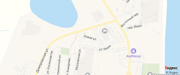 Новая улица на карте села Енотаевки с номерами домов