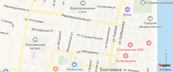 Улица Сувернева на карте села Енотаевки с номерами домов
