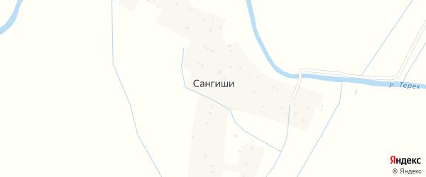 Улица Гагарина на карте села Сангиши с номерами домов