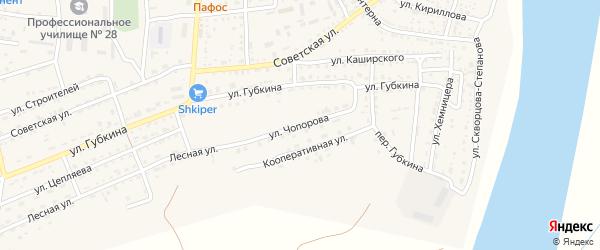 Улица Чопорова на карте села Енотаевки с номерами домов