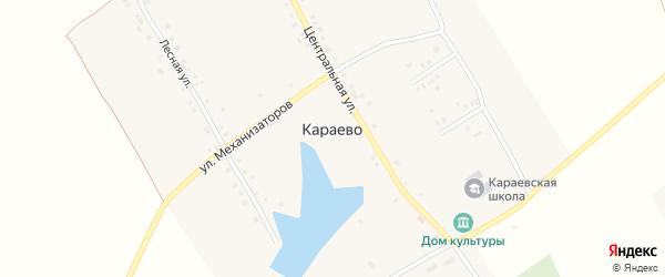 Улица Механизаторов на карте села Караево с номерами домов