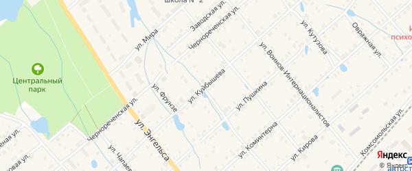 Улица Куйбышева на карте поселка Ибреси с номерами домов
